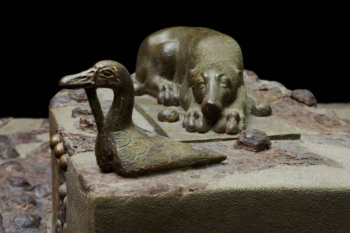 """A metal strongbox with appliques (circa AD 1-79) from Parco Archeologico di Pompei is among the items on view in """"Last Supper in Pompeii: From the Table to the Grave."""" (Courtesy Fine Arts Museums of San Francisco)"""
