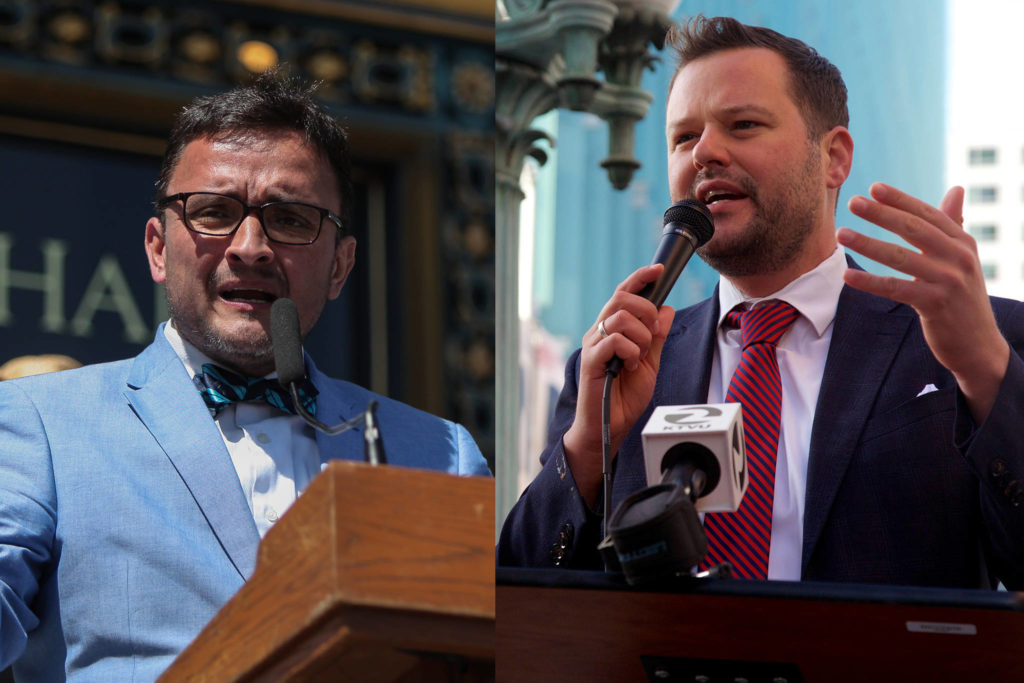 David Campos, left, and Matt Haney are part of a large pool of potential candidates who are registered to vote in Assembly District 17. (Left photo by Ekevara Kitpowsong/Special to The Examiner; right photo by Kevin N. Hume/The Examiner) David Campos, left, and Matt Haney are part of a large pool of potential candidates who are registered to vote in Assembly District 17. (Left photo by Ekevara Kitpowsong/Special to The Examiner; right photo by Kevin N. Hume/The Examiner)