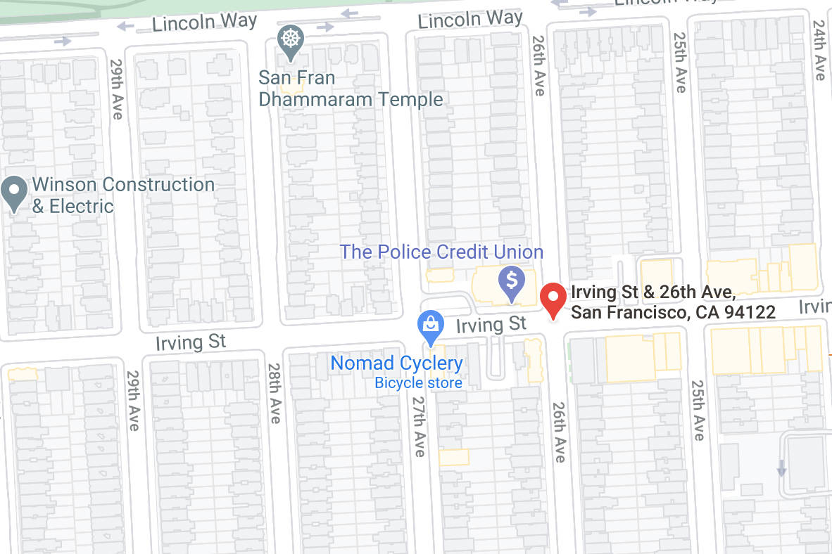 The Board of Supervisors is set to approve a loan for subsidized housing and senior housing at 2550 Irving St. (Courtesy map)