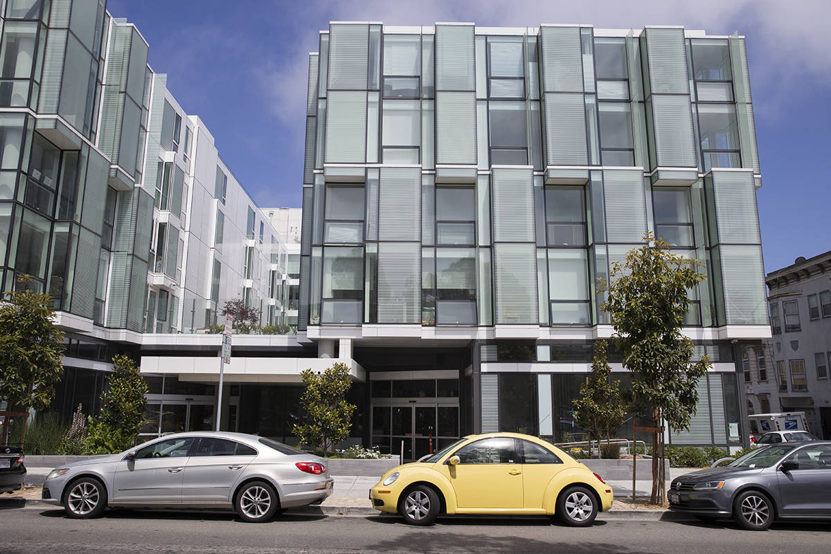 San Francisco supervisors approved zoning changes that will allow a chain grocery store to occupy the bottom floor of the 555 Fulton St. condo building. (Kevin N. Hume/The Examiner)