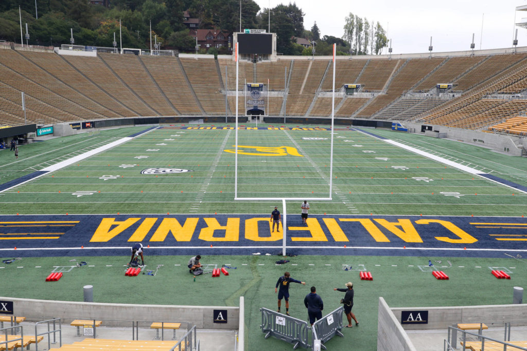The football stadium at UC Berkeley, on Saturday, Sept. 26, 2020. George Kliavkoff, a former top executive at MGM Resorts International, took over the conference at the start of the month. (Jim Wilson/The New York Times)