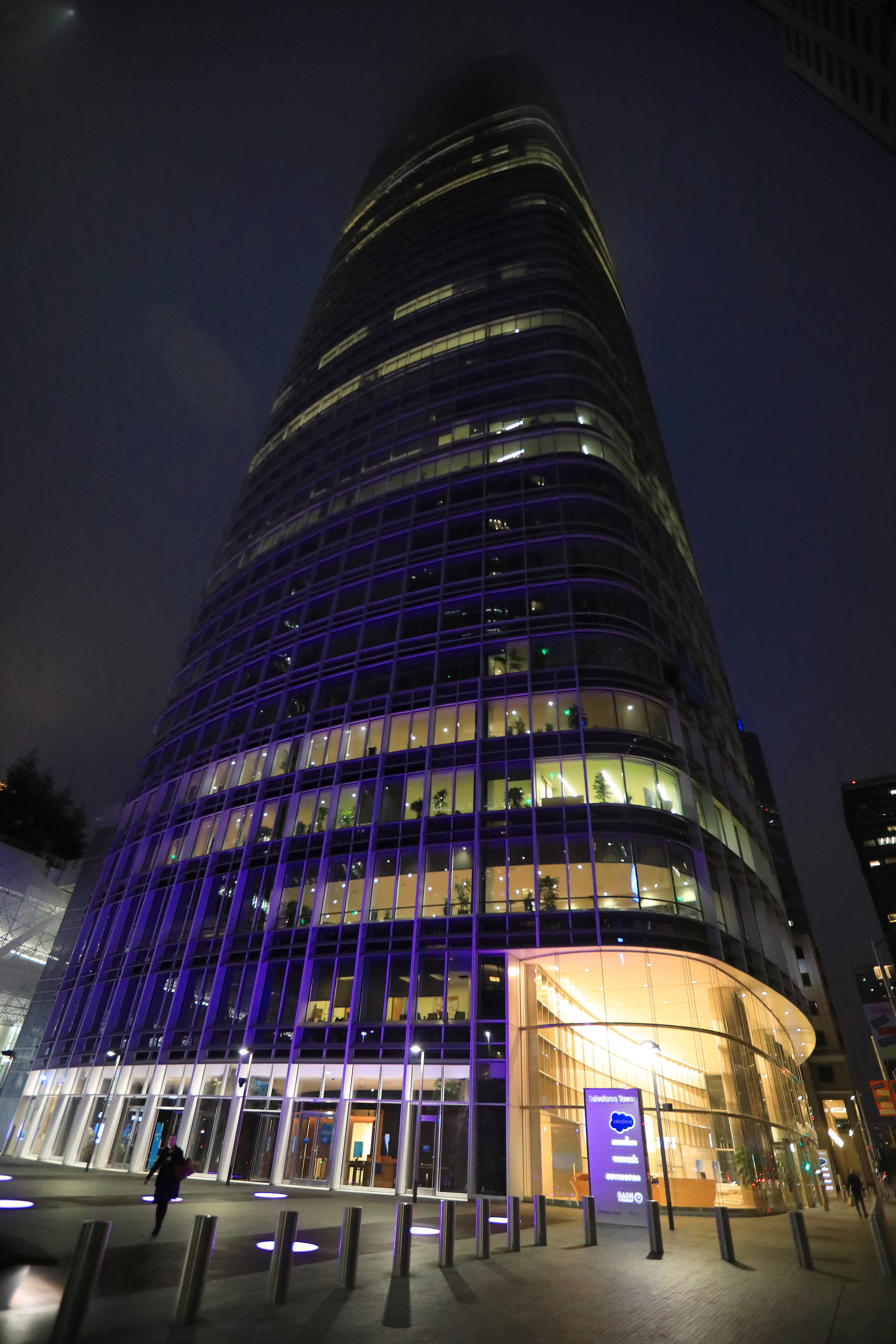 Salesforce Tower in San Francisco, which features a comprehensive water-recycling system, on July 30, 2021. Water recycling in office buildings is seen as a promising sustainability effort, as well as a smart hedge against rising costs and future shortages. (Jim Wilson/The New York Times)