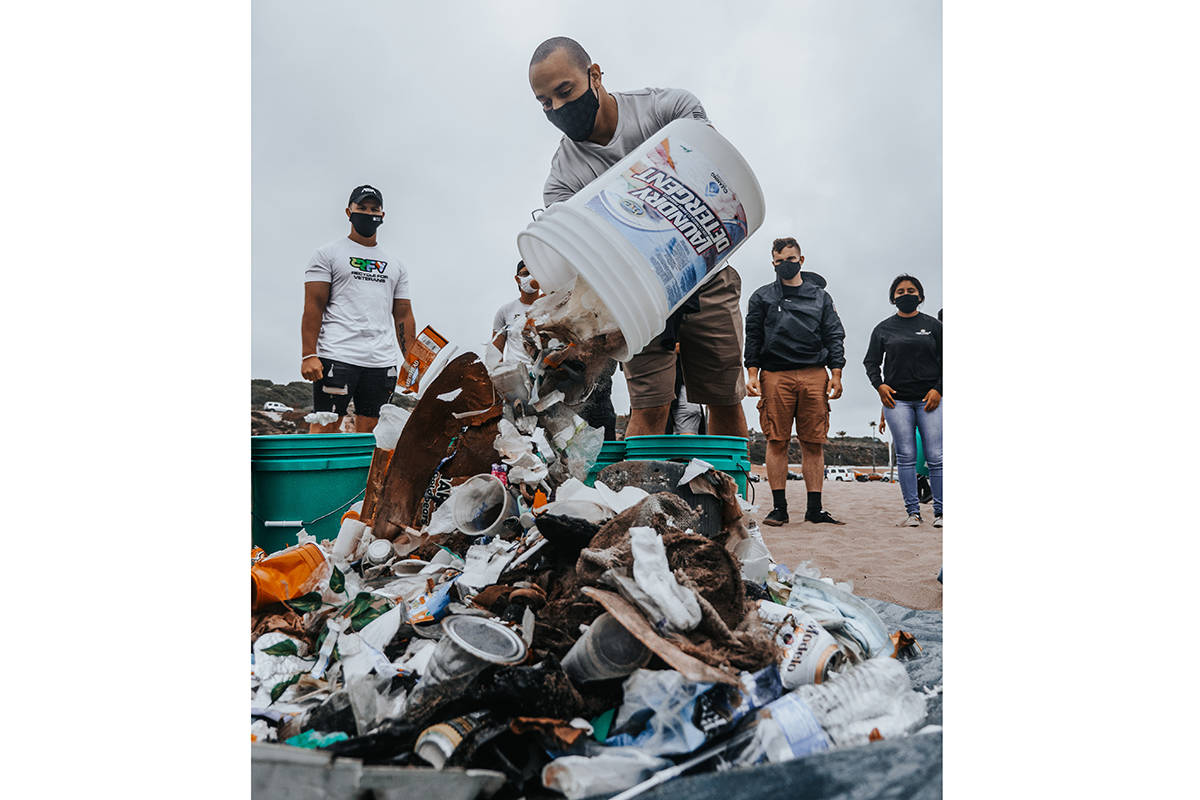 Recycle For Veterans, which did a cleanup in Los Angeles on Earth Day, will be in the Bay Area. (Courtesy Tyler Robison and Kevin Savage)