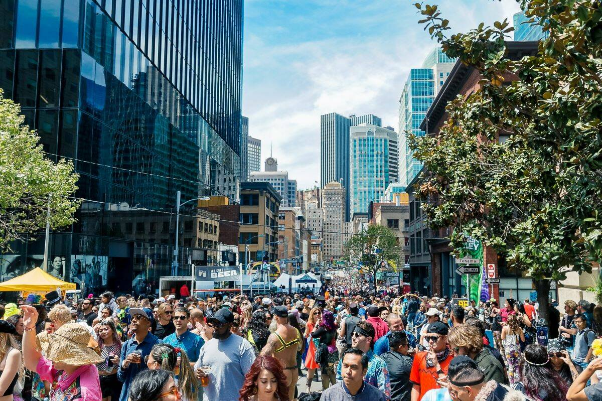 Revelers on Second Street enjoyed the How Weird Street Faire in 2018. (Courtesy photo)