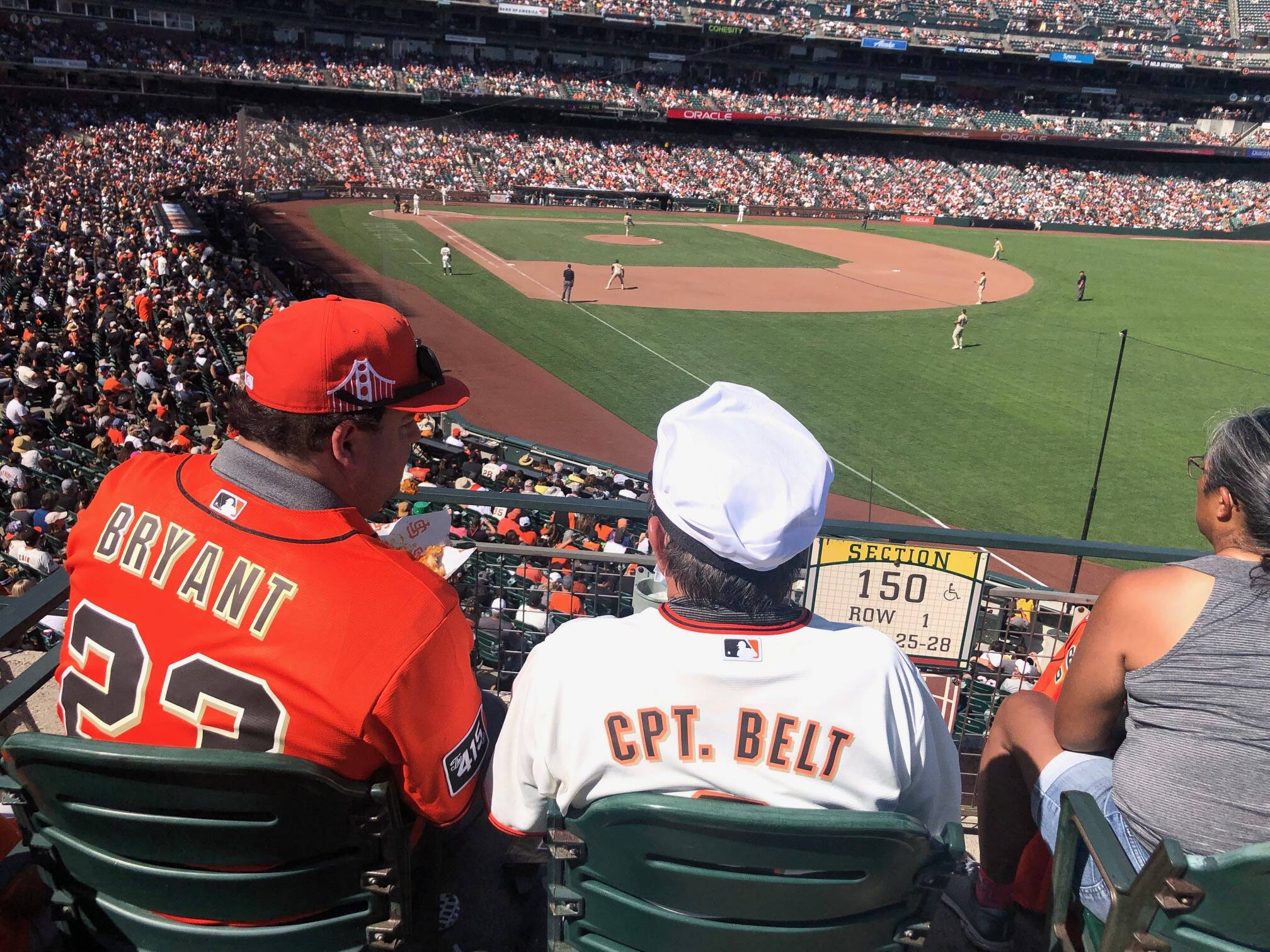 The scene at Oracle Park was bucolic Sunday, with fans celebrating a division title earned with the Giants' record-setting 107th win of the 2021 season.<ins> (Al Saracevic/The Examiner)</ins>