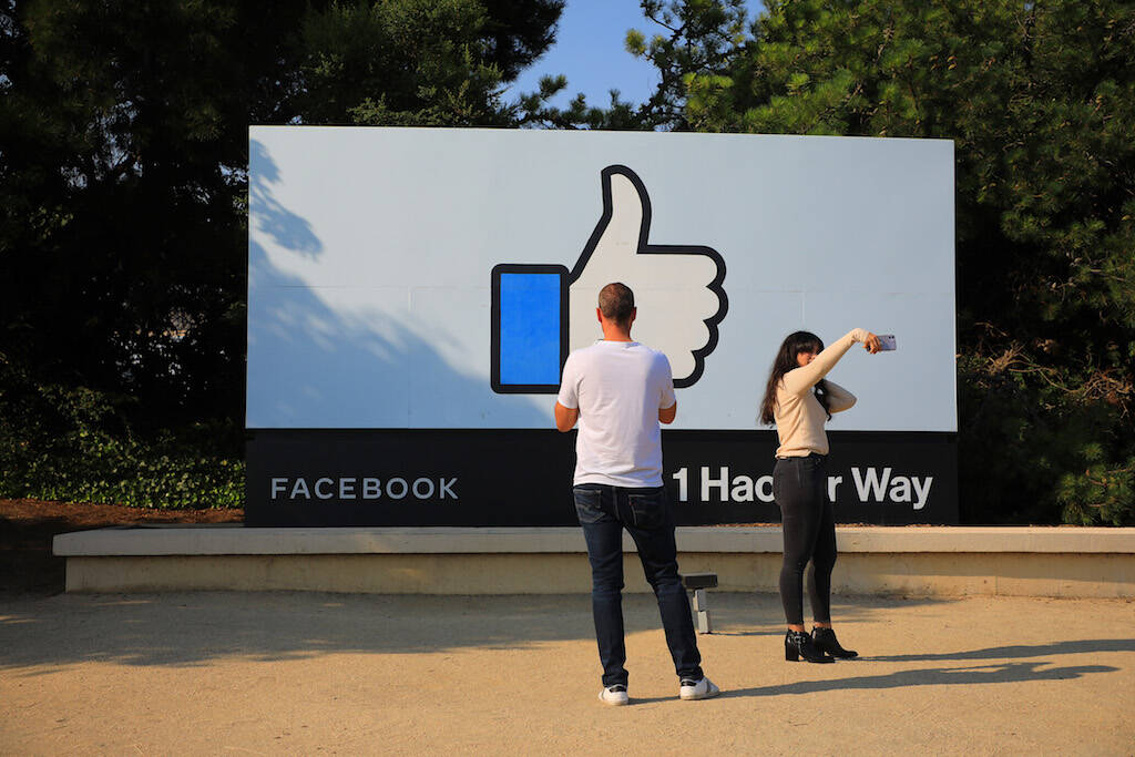 Facebook headquarters in Menlo Park is pictured in July 2020; on Oct. 4, the site and its family of apps including Instagram and WhatsApp went down at the same time, taking out a vital communications platform used by billions of people around the world. (Jim Wilson/New York Times)