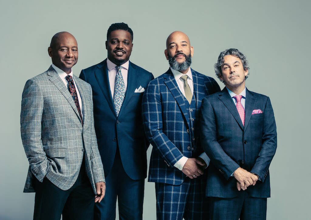 The Branford Marsalis Quartet — from left, saxophonist Marsalis, drummer Justin Faulkner, bassist Eric Revis and pianist Joey Calderazzo — plays in The City this week.<ins> (Courtesy Eric Ryan Anderson)</ins>
